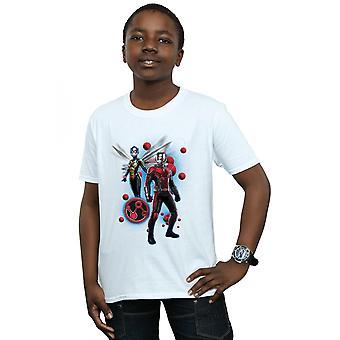 Marvel мальчиков человек муравей и Оса частицы представляют T-Shirt