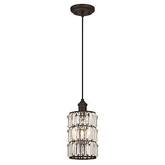 Pendant Sophie Oil Rubbed Bronze with 1 Light Crystal Prism Glass