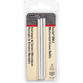 Factis Pen Style Mechanical Eraser Refills 3/Pkg-  BM2-3RBP