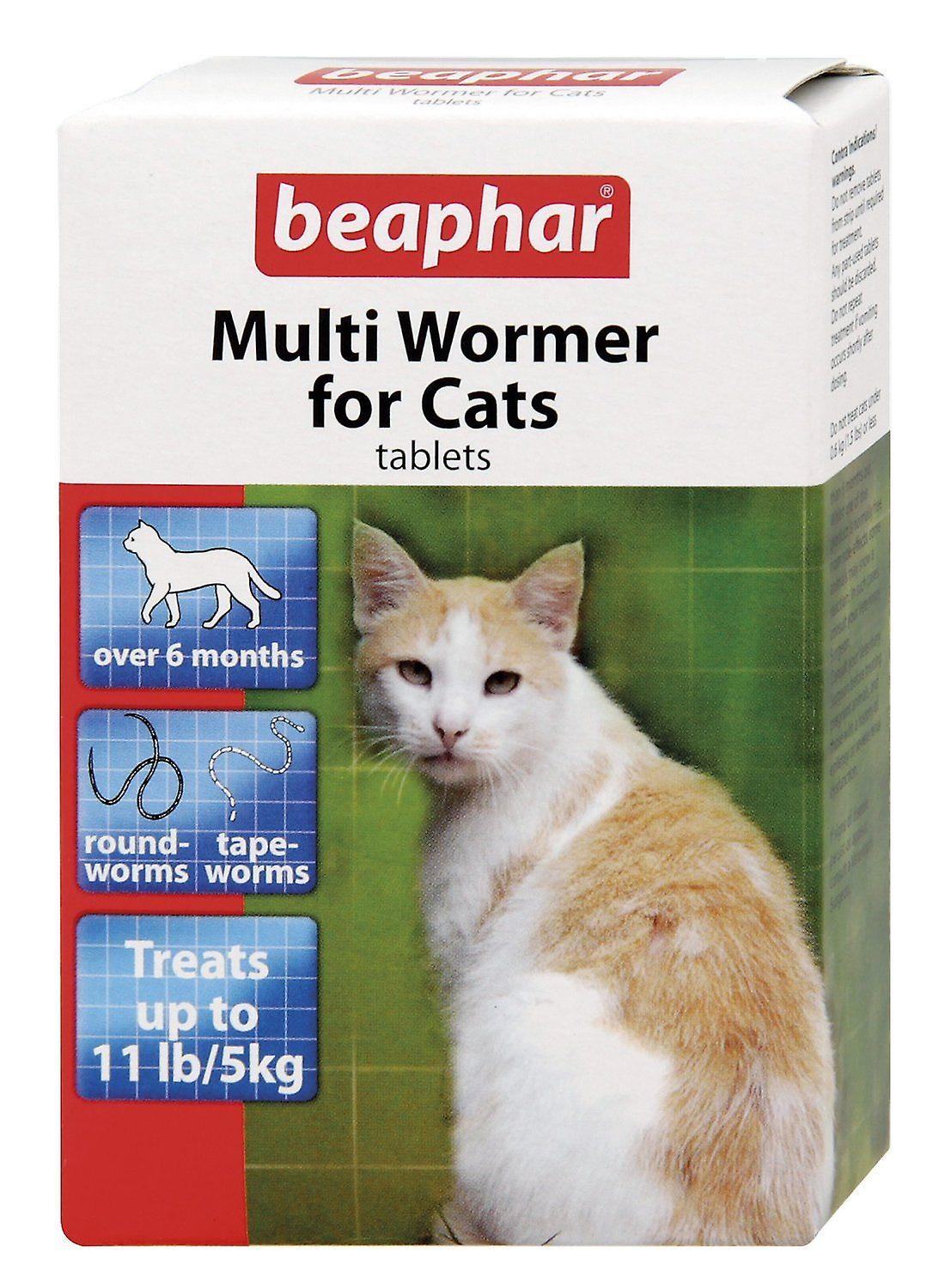 BEAPHAR MULTI WORMER FOR CATS 12 TABLETS WORMER TREATMENT