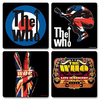 The Who 4 x Coaster band Logo new Official New set in presentation box