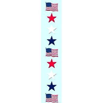 Rot - weiß- und blaue Sterne Stringer