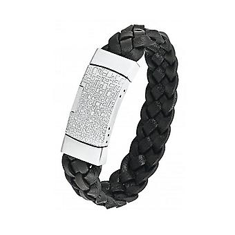 s.Oliver Jewel Men's Bracelet Leather stainless steel SO878 / 1-443593