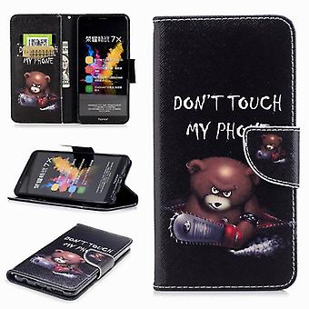Pocket wallet motif 21 for Huawei honor 7 X cover case pouch cover protective cover