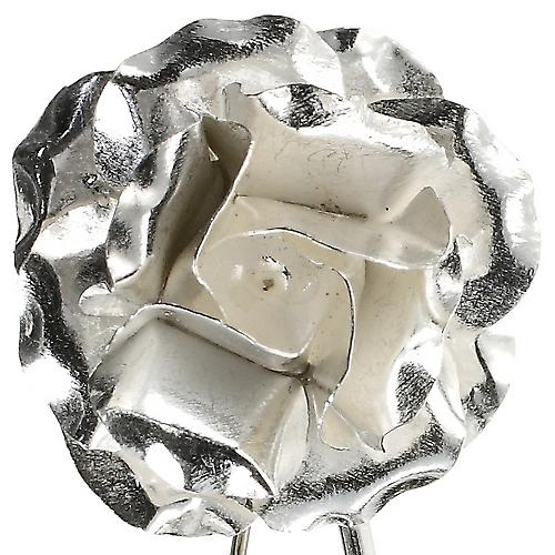 Rose Silver Brooch