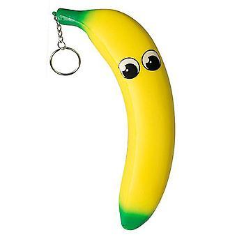 Squeez-Em matschig Keyring Medium Banane