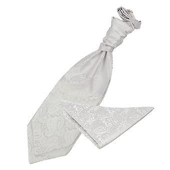 Paisley Avorio nozze Cravat & Set Square Pocket