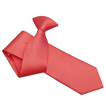 Coral Solid Check Clip On Slim Tie