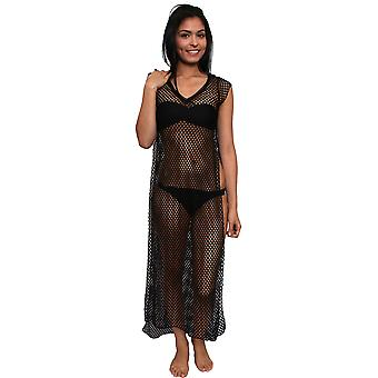 Vrouwen haak Open kant badmode Cover-up strand jurk Made in USA