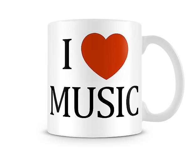I Love Music Printed Mug