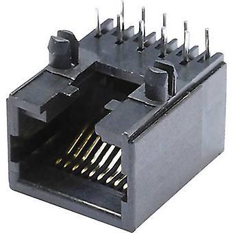 Modular mounted socket Socket, horizontal mount MEB10/10PL Black econ connect MEB10/10PL 1 pc(s)