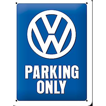 Vw Parking Only Small Metal Sign (200Mm X 150Mm)