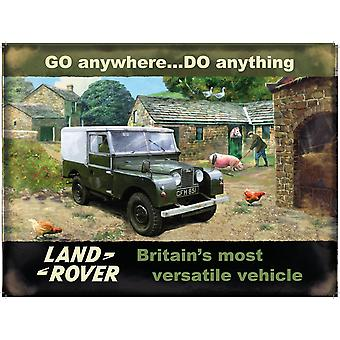 Land Rover Go Anywhere Do Anything Large Metal Sign 400Mm X 300Mm