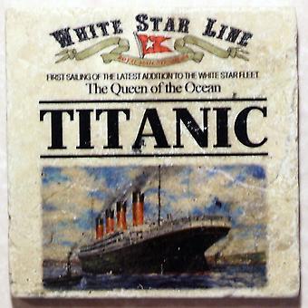 Titanic tuimelde marmeren dranken Coaster
