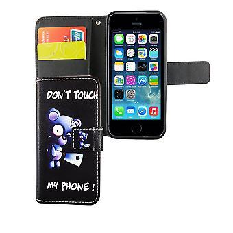 Mobiele telefoon case etui voor telefoon Apple iPhone 5 / 5 s / SE bear met bijl