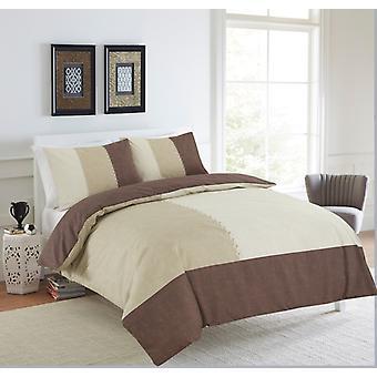 Mocka Patch tryckt duntäcke Quilt Cover Polycotton sängkläder