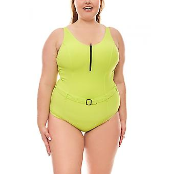 Shaping-bath linen with belt large bust size C Cup green heine