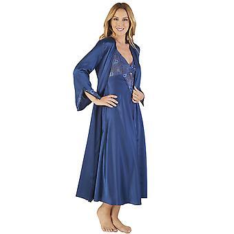Slenderella GL2780 Women's Satin Nightdress and Robe Set