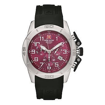 Swiss Alpine Military Herren Uhr Chrono 7063.9836SAM Silikon