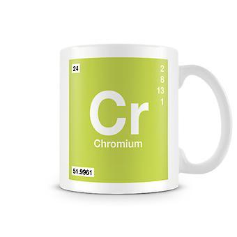 Wetenschappelijke bedrukte Mok met Element symbool 024 Cr - chroom