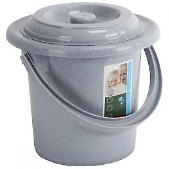 Curver toiletemmer+ deksel grijs 5ltr
