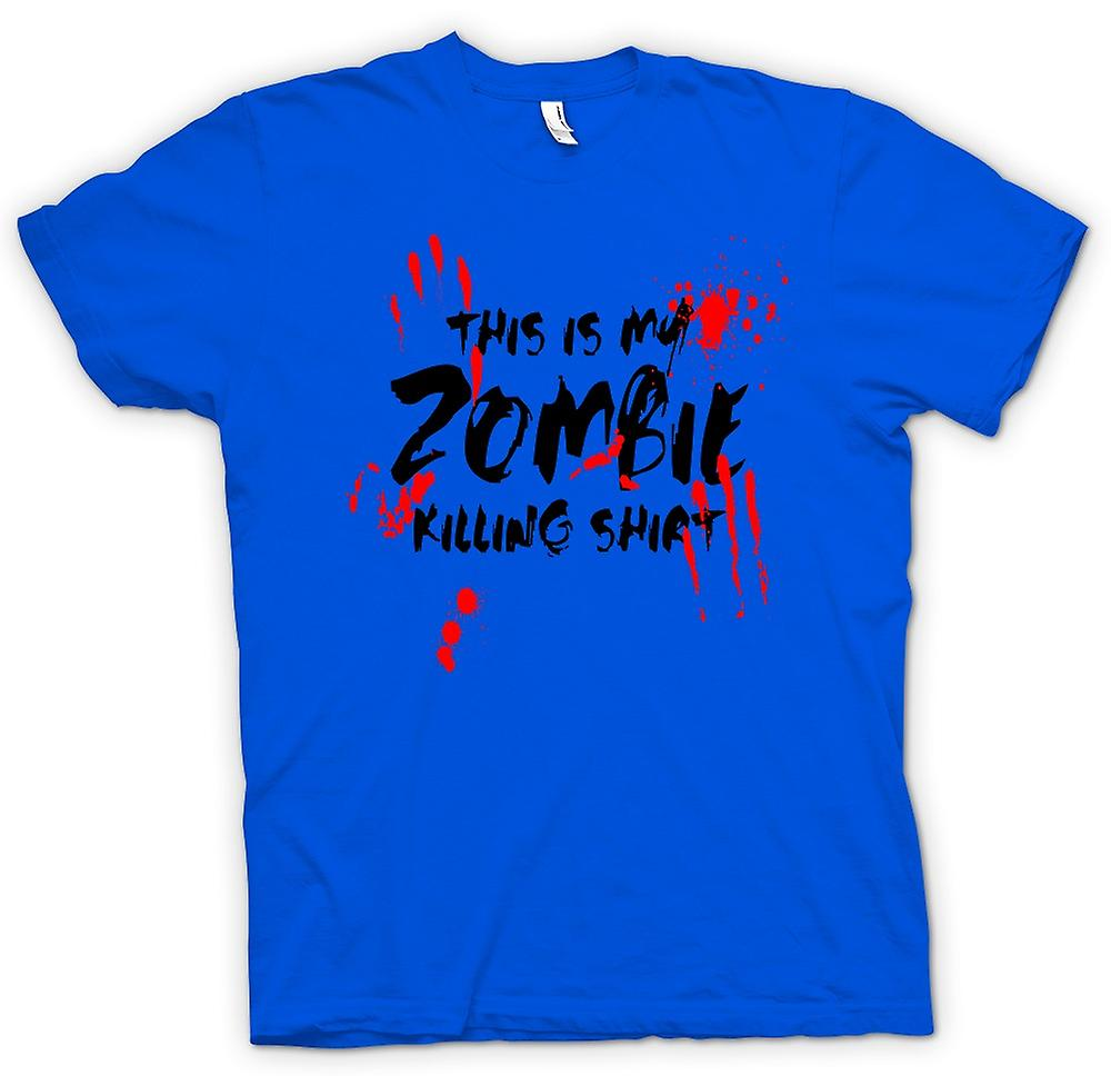 Mens T-shirt - This Is My Zombie Killing - Funny