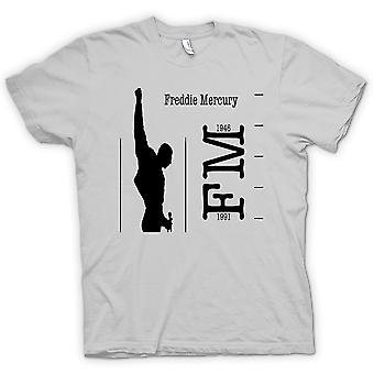 Mens T-shirt - Freddie Mercury Queen - FM 46 - 91