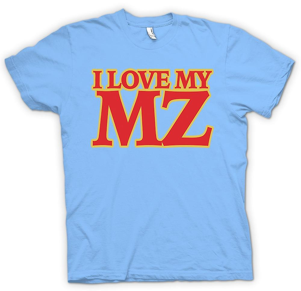 Mens T-shirt - I love my MZ - Motorcycle - Biker