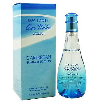 Davidoff cool water woman Caribbean summer edition 100ml Eau de Toilette new original box