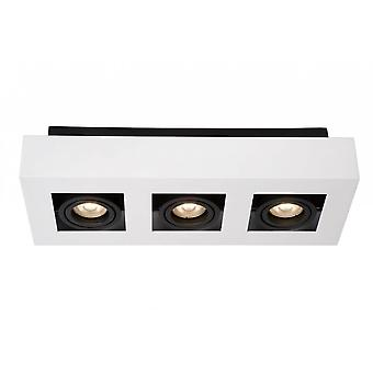 Lucide Xirax Modern Rectangle Aluminum White And Black Ceiling Spot Light