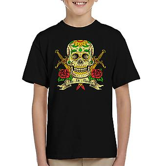 Dag af døde kraniet Kid's T-Shirt