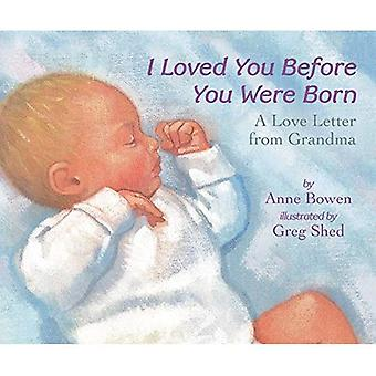 I Loved You Before You Were Born: A Love Letter from Grandma [Board book]