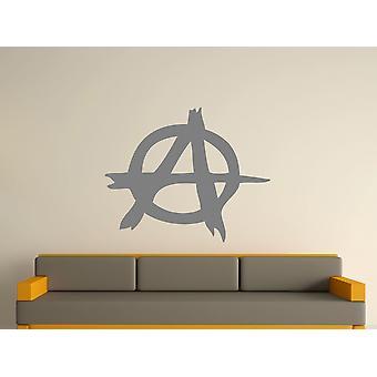 Anarchy Symbol Wall Art Sticker -  Grey