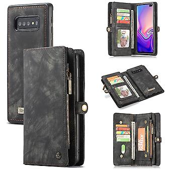 Cell phone case for Samsung Galaxy S10 G973F CaseMe cover purse + case cover art leather black