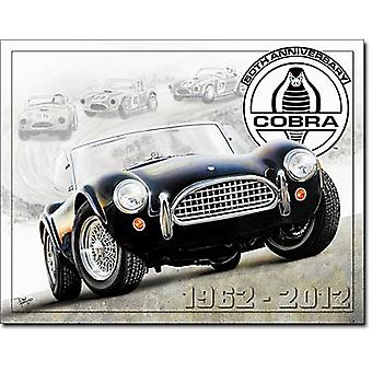 (Shelby) Cobra 50th Anniversary metal sign   (ga)