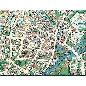 Cityscapes Street Map Of Stratford-Upon-Avon 400 Piece Jigsaw Puzzle 470mm x 320mm (hpy)