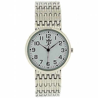 Realm Gents Round Quartz Analogue Silver Tone Mens Bracelet Strap Watch RB-24G