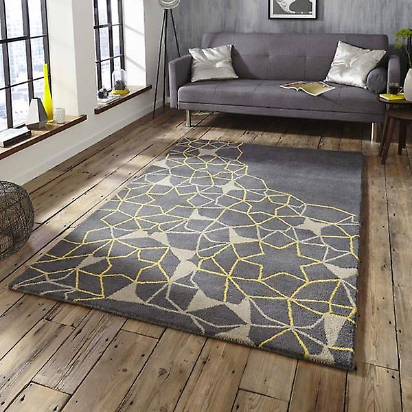 Rugs - Arrows & Stars - SP37 Grey & Yellow
