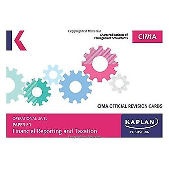 F1 FINANCIAL REPORTING AND TAXATION - REVISION CARDS by KAPLAN PUBLIS