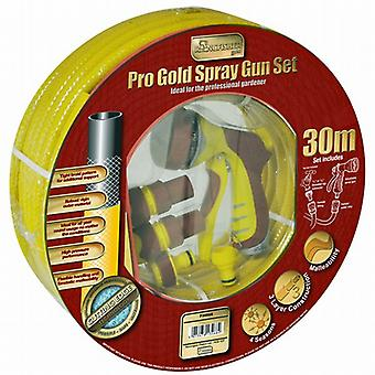 30m Gold Spray Gun Watering Hose Set (730SGS)