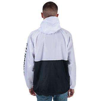 Mens Levis Packable Sport Anorak In White-Half Zip To Collar-Ribbed Cuffs-