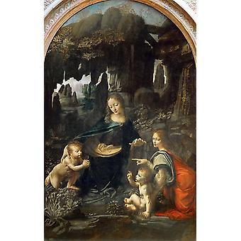 Jomfru af klipperne, LEONARDO da Vinci, 60x38cm