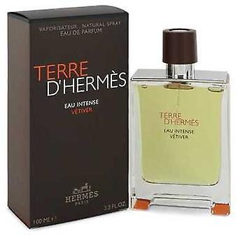Terre D'hermes Eau Intense Vetiver By Hermes Eau De Parfum Spray 3.3 Oz (men) V728-542988