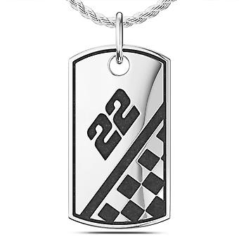 Joey Logano #22 Signature Dog Tag Pendant In Sterling Silver