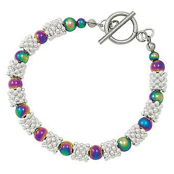 Eternal Collection Alchemy Rainbow Hematite Beaded Bracelet