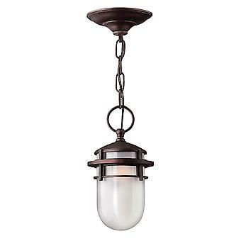 Elstead-1 lys udendørs loft kæde lanterne victoriansk bronze-HK/REEF8 VZ