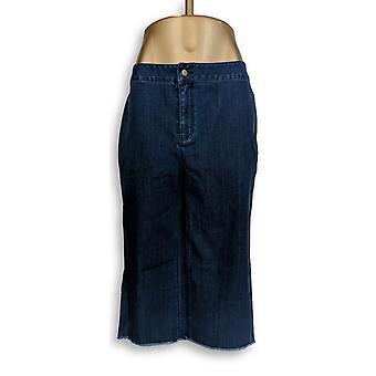 Joan Rivers Classics Collection Women's Petite Jeans Gauchos Blue A309711