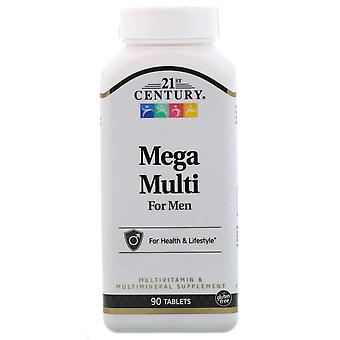 21st century mega multi for men, multivitamin, tablets, 90 ea