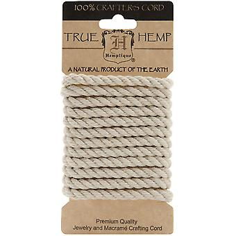 Hemp Rope 6Mm 6.56 Feet Pkg Natural Hrc6mt