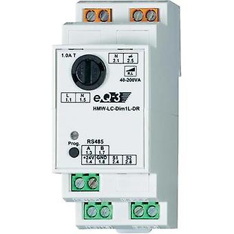 HomeMatic RS485 dimmer actuador 76803 3 canales carril DIN 200 W